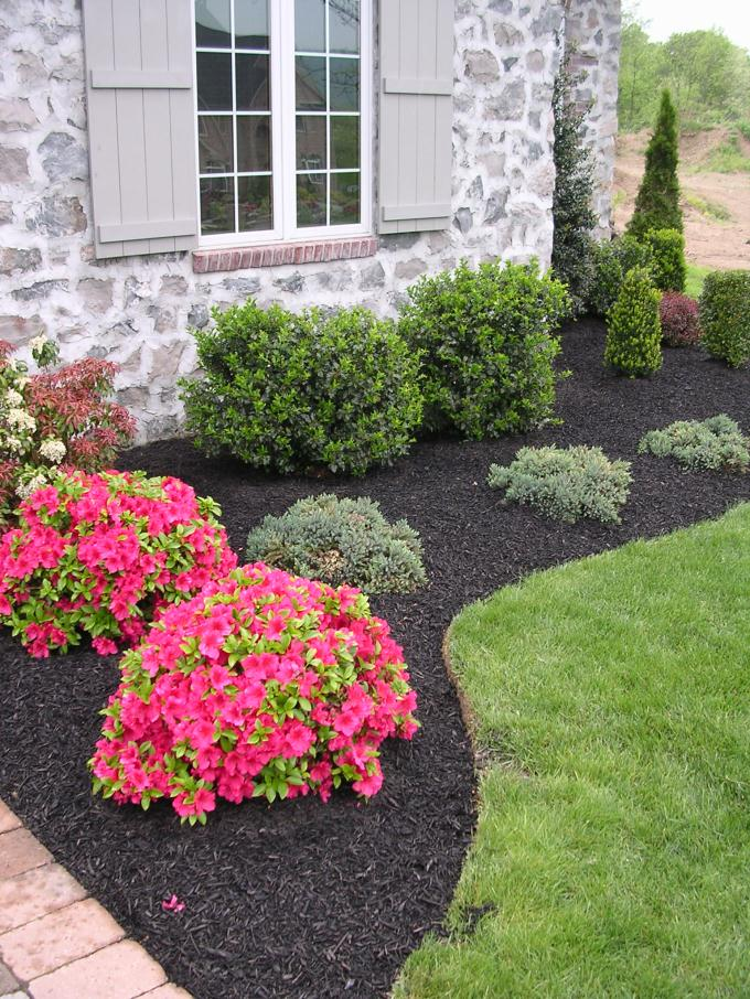 Services for Small flower garden in front of house